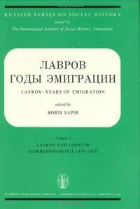 Years of Emigration (Russian Series on Social History)