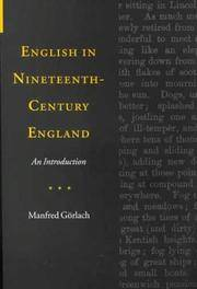 English in Nineteenth Century England - An Introduction
