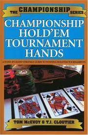 Championship Hold'em by Tom McEvoy; T.J. Cloutier - Paperback - 2004-10-26 - from Ergodebooks (SKU: SONG1580420842)