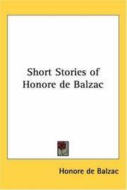 image of Short Stories of Honore de Balzac