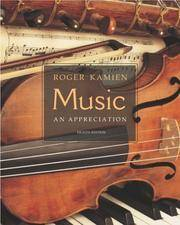 Music: An Appreciation by Roger Kamien - Hardcover - 2003-03-02 - from Books Express and Biblio.co.uk