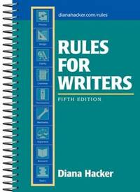 Rules for Writers, 5th Edition Hacker, Diana