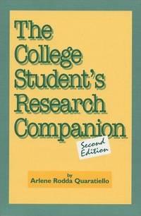 The College Student's Research Companion