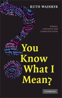 YOU KNOW WHAT I MEAN?: WORDS, CONTEXTS AND COMMUNICATION (HB 2008)