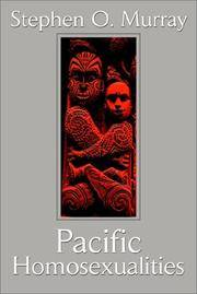 Pacific Homosexualities by  Stephen Murray - Paperback - 2002-06-24 - from Books In Brisbane and Biblio.com