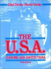 The U. S. A. Customs and Institutions