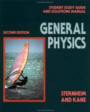 Student Study Guide and Solutions Manual to accompany General Physics, Second Edition