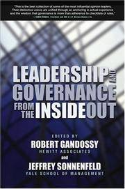 Leadership and Governance from the Inside Out (SIGNED COPY)