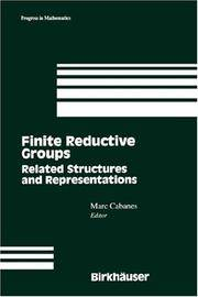 Finite Reductive Groups: Related Structures and Representations: Proceedings of an International...