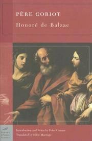 Pere Goriot by De Balzac, Honore