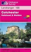 image of Colchester, Halstead and Maldon (Landranger Maps)