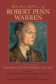 """image of Selected Letters of Robert Penn Warren: The """"Southern Review"""" Years, 1935--1942 (Southern Literary Studies) (v. 3)"""
