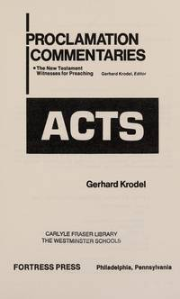 Acts (Proclamation commentaries)