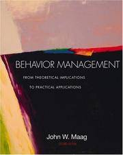 Behavior Management: From Theoretical Implications to Practical Applications (with InfoTrac?) by John W. Maag - Paperback - from Better World Books  and Biblio.com