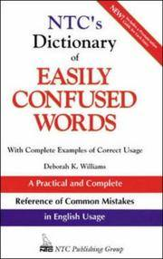 N.T.C.s Dictionary of Easily Confused Words (National Textbook Language Dictionaries)