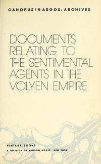 SENTIMENTAL AGENTS (Canopus in Argos--Archives)