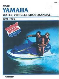 Yamaha Water Vehicles Shop Manual 1993-1996