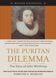 image of The Puritan Dilemma: The Story of John Winthrop (Weekend Biographies Series) (for Sourcebooks, Inc.)