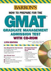 How to Prepare for the GMAT by Stephen Hilbert Ph.D. and Eugene D. Jaffe MBA Ph.D - from BooksAndMisc and Biblio.com