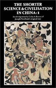 image of The Shorter Science and Civilisation in China: Volume 1