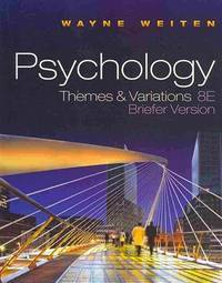 image of Psychology: Themes and Variations Briefer Version