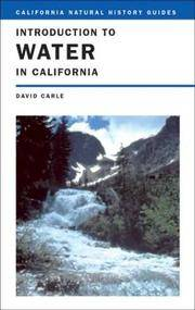image of Introduction To Water in California