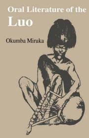 Oral Literature of the Luo (Vitabu Vya Sayari Series, 8) by Miruka, Okumba - 2004-01-01