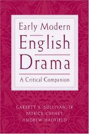 Early Modern English Drama: A Critical Companion by  Andrew  Patrick and Hadfield - Paperback - from ShopBookShip and Biblio.com