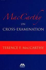 image of MacCarthy on Cross Examination