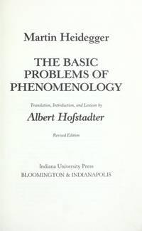 image of The Basic Problems of Phenomenology