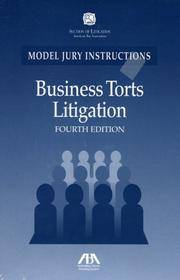 Modal Jury Instructions Business Torts Fourth Edition