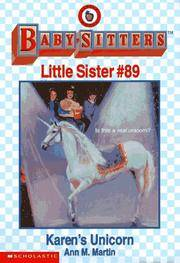 image of Karen's Unicorn (The Baby-Sitters Club Little Sister)