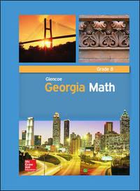 Glencoe Georgia Math Grade 8 Volume 1 by McGraw Hill
