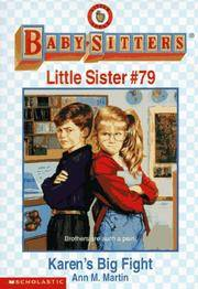 Karen's Big Fight (Baby-sitters Little Sister) by Martin, Ann M - 1996