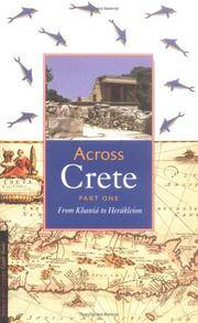 Across Crete: Part One: From Khani  to Her kleion by Editor-Johan de Bakker - Paperback - 2003-04-05 - from Ergodebooks and Biblio.com
