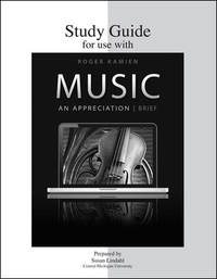 Study Guide For Use With Music