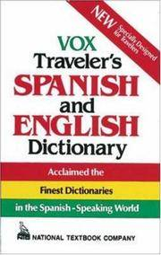 image of Vox Traveler's Spanish and English Dictionary (Vinyl cover) (VOX Dictionary Series)