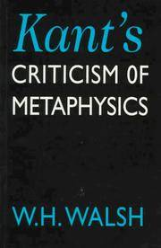 image of Kant's Criticism of Metaphysics