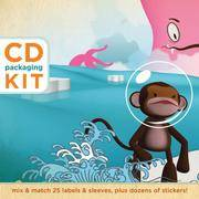 CD Packaging Kit--Surf & Turf: Mix & match 25 labels and sleeves, plus dozens of stickers!