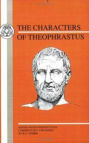 Theophrastus: Characters (Bcp Greek Texts)
