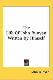 image of The Life Of John Bunyan Written By Himself