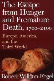 image of The Escape from Hunger and Premature Death, 1700?2100: Europe, America, and the Third World (Cambridge Studies in Population, Economy and Society in Past Time, Series Number 38)