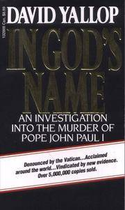 image of In God's Name: An Investigation into the Murder of Pope John Paul I