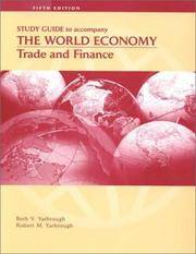 image of The World Economy: Trade and Finance, Study Guide
