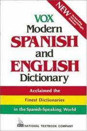 image of Vox Modern Spanish and English Dictionary (Vinyl cover) (VOX Dictionary Series)