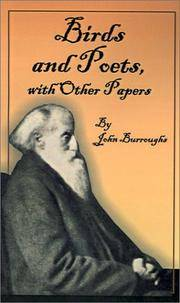 Birds and Poets: With Other Papers by John Burroughs  - Paperback  - 2001-08-01  - from Ergodebooks (SKU: SONG1589634888)