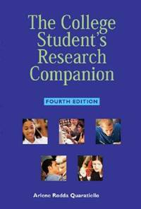 College Student's Research Companion by  Arlene Rodda Quaratiello - Paperback - from TextbookRush and Biblio.com