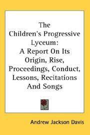 The Children\'s Progressive Lyceum