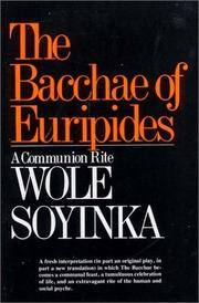 image of Bacchae of Euripides: A Communion Rite