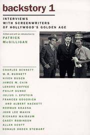 Backstory 1: Interviews with Screenwriters of Hollywood's Golden Age (No. 1)